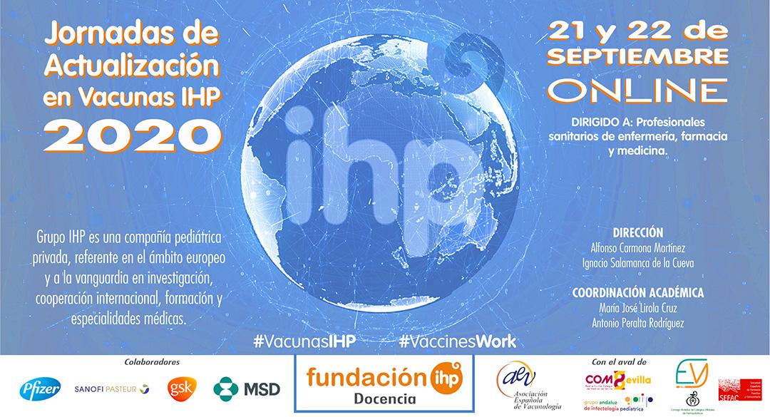 Díptico Jornadas de Actualización en Vacunas IHP 2020